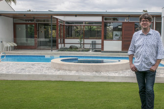 Restoration Australia host Stuart Harrison at Perth's mid-century Paganin House.