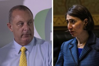 """Premier Gladys Berejiklian says accusations made against Upper Hunter MP Michael Johnsen are """"beyond disgusting""""."""