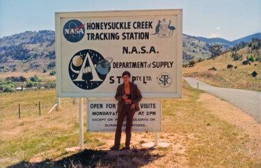 Colin Mackellar at Honeysuckle Creek tracking station in 1971.