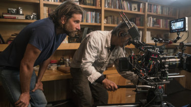 Bradley Cooper, pictured during the filming of A Star is Born, was slighted with exclusion from the best director category.