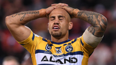 Blake Ferguson ... The Eels winger was on the end of a disgraceful racist attack via social media.