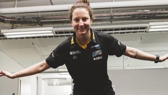 Nervous Canberra Capitals gun Kelsey Griffin wins WNBL player of week