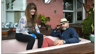 Louise Whelan and John Ogden at their home.
