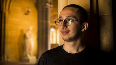 Amir at the University of Sydney on Wednesday.