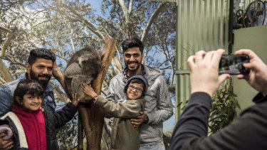 Featherdale Wildlife Park in western Sydney receives about 12,500 Indian visitors a year, including a significant number of students and tourists visiting friends and relatives.