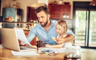 Nearly two thirds of workers say they're more productive working from home - even with kids around.