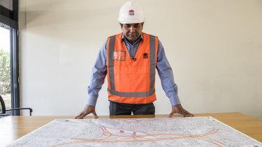 Rozelle Interchange project director Tarnjit Chahal.