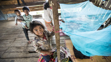 Malaria outreach in Pailin Province, west Cambodia, where malaria drug resistance is of major international concern.