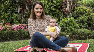 Aillinn Kinlan gave birth to three-month-old Dara via an elective C-section.