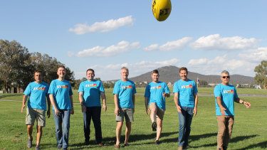 The organisers of the Kick 2 Kick 4 A Cause marathon football event in Canberra.