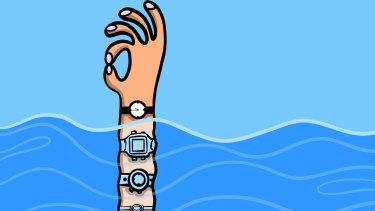First watches were always an analogue clock face. My parents saw digital watches, popular then in the 1980s, as cheating. Illustration: Drew Aitken