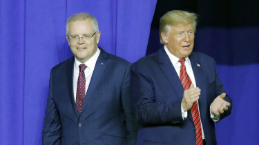 Prime Minister Scott Morrison could not say no to assisting the US when President Donald Trump requested.