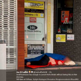 Another image Lisa Scaffidi tweeted of a man sleeping rough on Murray Street.