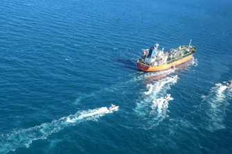 "The MT Hankuk Chemi was stopped by Iranian authorities over alleged ""oil pollution"" in the Persian Gulf."