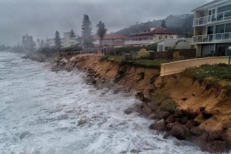 A big swell combined with a high tide damaged Sydney's Narrabeen beach  in late July.