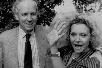 Carla Zampatti and husband John Spender, federal shadow attorney-general in 1987.