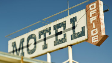 Road trip bingo: Fifty points for each overnight stay in a 1970s style drive-up motel.