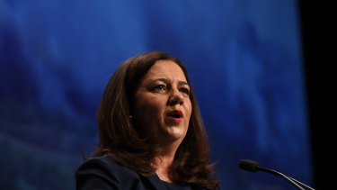 Queensland Premier Annastacia Palaszczuk would like there to be fewer pokies in the state.