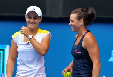 Ashleigh Barty and Casey Dellacqua in 2013