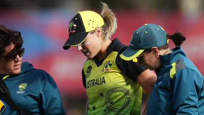 Teary end for Perry as Australians through to semis