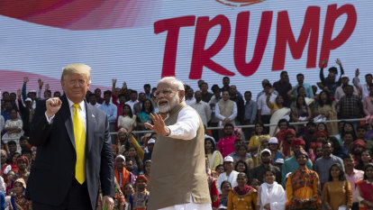 'Namaste Trump': India's nationalist leader holds huge rally for US President's visit