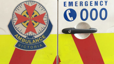 A man has died after suffering a medical episode on the side of a building on Swanston Street.