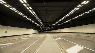 Inside the new M8 tunnel, linking Beverly Hills and St Peters within a 10 minute drive.
