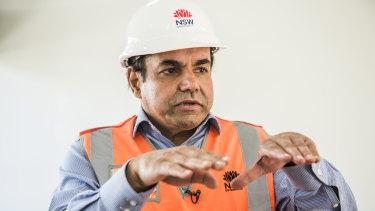 Rozelle Interchange project developer Tarnjit Chahal.
