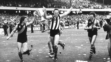 Those were the days? Richmond players after their Grand Final Series win in 1980.