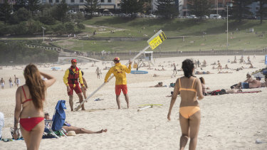 Bondi Beach being closed in Sydney on  March 21st.
