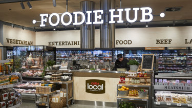 The new, small-format Coles Local store in Surrey Hills, Melbourne.