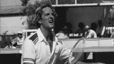 The Volcano, Fritz Buehning, in action at the NSW Open back in 1980.