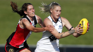 Tayla Harris in action earlier this year