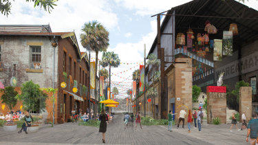 An artist's impression of the new plan for the island.