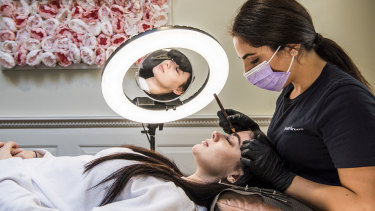 Rafaela Di Costanzo and Laura Iacono at PerfettoBrows prepare for reopening.