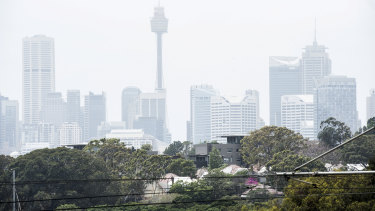 Sydney has battled smog which unions have warned outdoor workers to avoid.