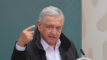 President of Mexico Andres Manuel Lopez Obrador.