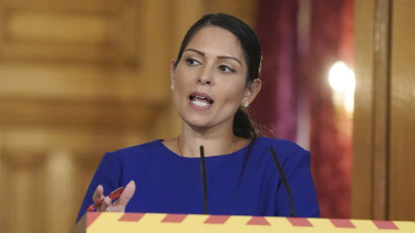 Britain's Home Secretary Priti Patel.