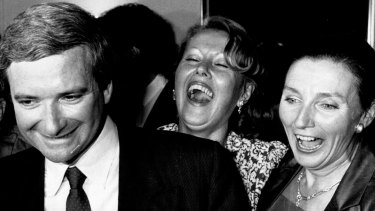 Nick Greiner with his wife Kathryn (right), March 20, 1988.