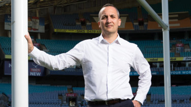 NRL chief commercial officer Andrew Abdo isn't worried about the TV ratings so far this season.