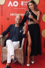 Nick and Rozalia Russia at Piper Heidsieck's Australian Open dinner.