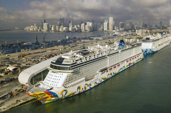 The Norwegian Encore cruise ship at the Port of Miami last year.