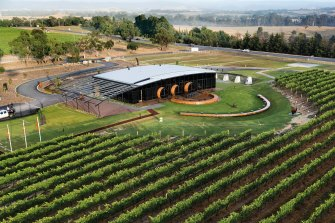 Levantine Hill winery in the Yarra Valley designed by Fender Katsalidis.