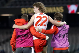 Nick Blakey's injury looms as a big blow for the Swans before the finals.