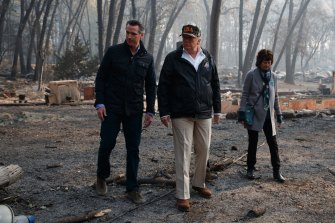 US President Donald Trump said mismanagement of state forests was to blame for California's deadly 2018 wildfires.