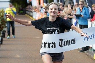 Fleur Flanery won the Canberra Times half marathon, marathon and ultra marathon female divisions in 2015.