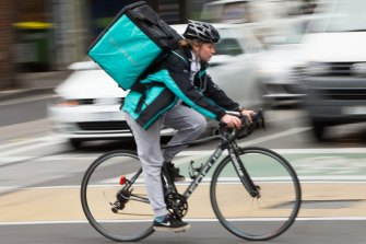 Food delivery services, such as Deliveroo, are booming as we bunker down and rely more on their services.