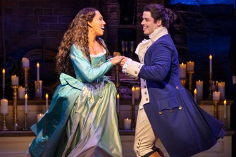 The show will go on: Chloe Zuel and Jason Arrow star in Hamilton which has been postponed.
