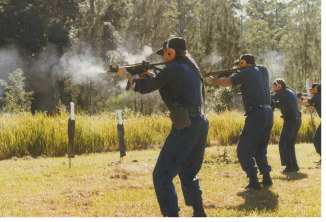 Queensland's undercover police in firearms training.