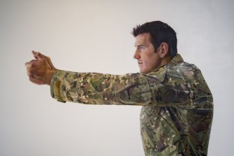 Portrait of Ben Roberts-Smith by the artist Michael Zavros at the Australian War Memorial.